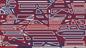 Star lines red and blue background. Abstract vector illustration Stock Image