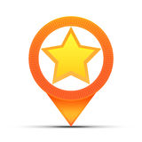 Star Location Map Pin Royalty Free Stock Photos