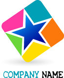 Star logo. Illustration art of a star logo with isolated background Royalty Free Stock Images