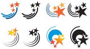 Star Logo. A swooping star logo set Stock Photo