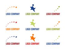 Star logo company. Stock Photography