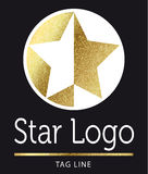 Star logo in gold. Star logo in bright gold royalty free illustration