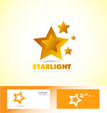 Star logo icon set. Vector company logo icon element template star 3d yellow Royalty Free Stock Photos