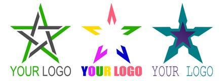 Star logo or icon. Vector set stock illustration