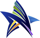 Star logo Royalty Free Stock Photo