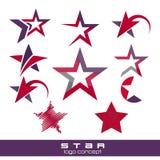 Star logo pack Royalty Free Stock Photos