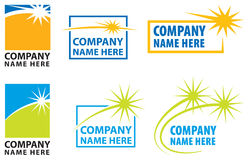 Star Logo Set Royalty Free Stock Images