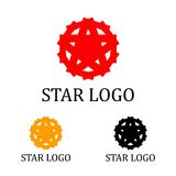 Star Logo Template. This logo is great for many business and company Royalty Free Stock Image