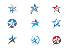 Star Logo template vector icon design. Business professional logo template Stock Images