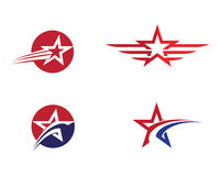 Star Logo Template. Vector icon illustration design Royalty Free Stock Photos