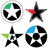 Star logo - vector illustration for your company. Four type of vector illustration of star logo on isolated background royalty free illustration