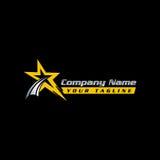 Star logo - vector logo concept illustration. Star and stripes vector logo. Star abstract logo. Vector logo template. Design element.eps8,eps10 Stock Photo