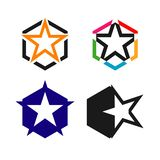 Star Logo Vector Template Design Illustration. Star logo vector symbol shape design illustration concept icon element graphic stars leader template company royalty free illustration