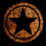 Star Logo Vintage Grunge Leather Royalty Free Stock Image