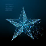 Star low poly blue Royalty Free Stock Photos