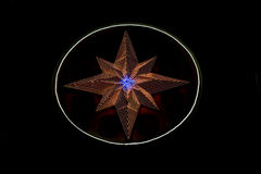 Star made of LED lights Stock Photo