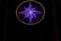 Star made of LED lights Stock Image