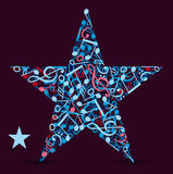 Star made of music notes Stock Image