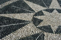 Star made of stones stock images