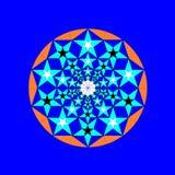 Star Mandala. Mandal with Star pattern using the Golden Ratio Royalty Free Illustration