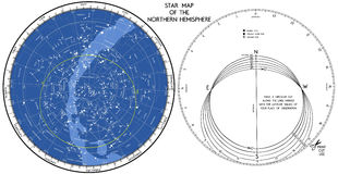 Star map Stock Photography