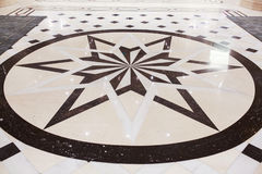 Star marble pavement Royalty Free Stock Photos