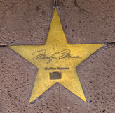 Star of Marilyn Monroe on sidewalk Royalty Free Stock Images