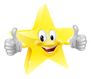 Star mascot. A happy cartoon star man giving a double thumbs up Royalty Free Stock Image