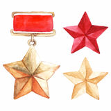 Star medal 9 may The Great Patriotic War vector isolated Stock Photography