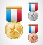 Star medals Stock Images