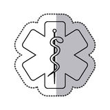 Star with medical sign icon Stock Image