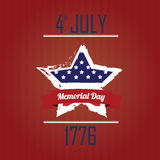Star memorial day Royalty Free Stock Images