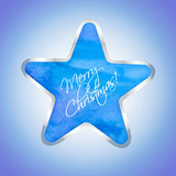Star with Merry Christmas text Royalty Free Stock Photos