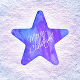 Star with Merry Christmas text Royalty Free Stock Image