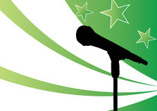 Star on the mic Royalty Free Stock Image