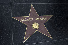 Star Michael Jackson on the Hollywood Royalty Free Stock Photography