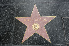 The star of Mike Douglas Stock Photography