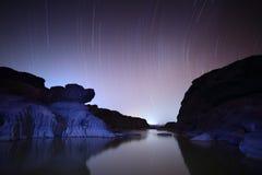 Star. Milky way galaxy Sampanbok Grandcanyon of Thailand Stock Images