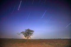 Star. Milky way galaxy Sampanbok Grandcanyon of Thailand Royalty Free Stock Photography