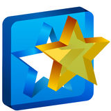 Star Mold Cutout Icon Royalty Free Stock Photos