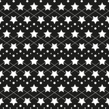 Star monochrome seamless texture. Monochrome black-white repeating pattern star. Fabric, material, textile, seamless texture Stock Image