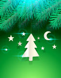Star moon christmas tree Stock Photo