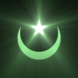 Star and Moon green light flare Royalty Free Stock Photos