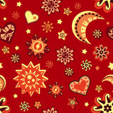 Star and moon seamless pattern Stock Photography