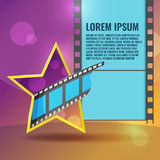 Star Movie Film Entertainment Background Vector Royalty Free Stock Photography