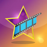 Star Movie Film Entertainment Icon. Vector Royalty Free Stock Photo