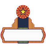 Star Movie Marquee vector illustration