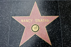 The star of Nancy Sinatra Royalty Free Stock Photos