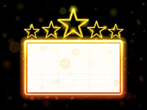 Star Neon Movie Sign Royalty Free Stock Image