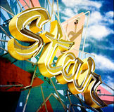 Star Neon Sign Stock Images